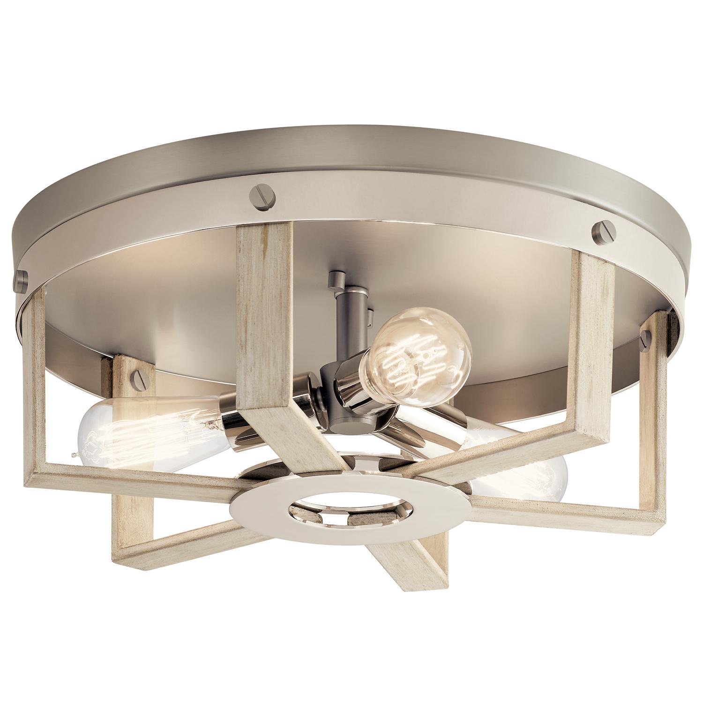 farmhouse style lighting three light flush mount kitchen lighting