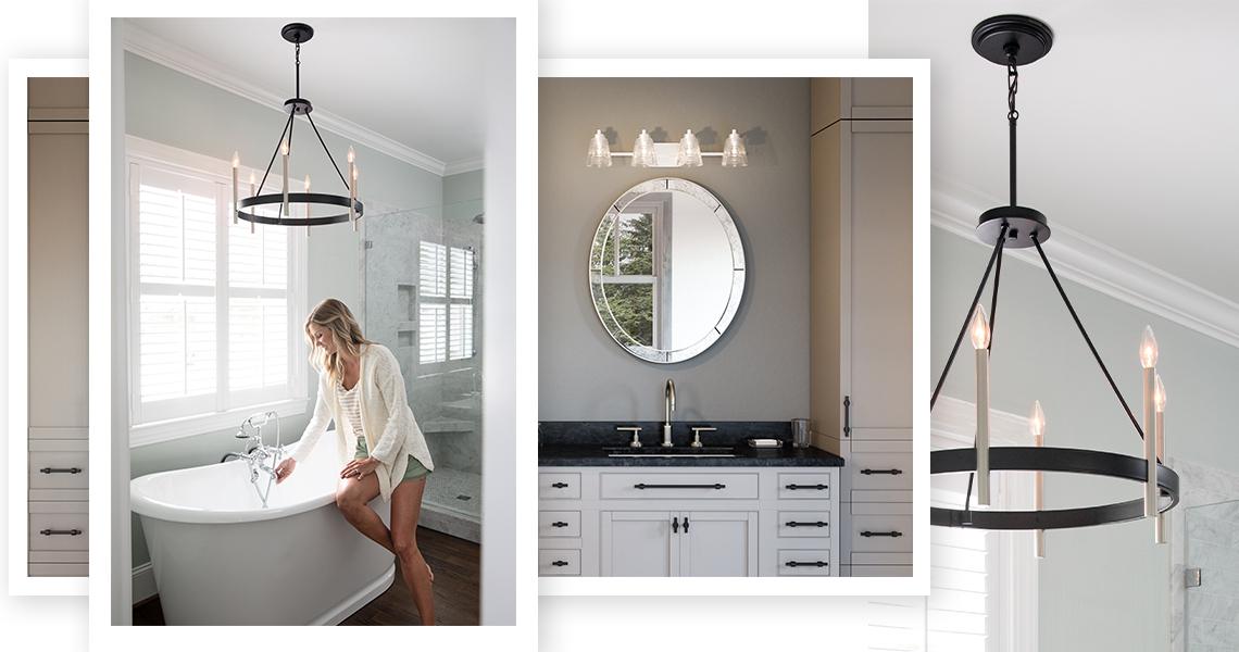 Bathroom Lighting Collage
