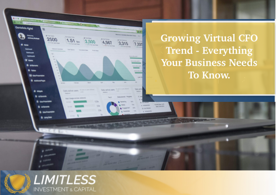 A laptop showing data that a Virtual CFO could use. The trend of Virtual CFO's is growing and small and medium sized businesses need to know about Virtual CFOs