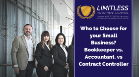 Who to Choose for your Small Business? Bookkeeper vs. Accountant. vs Contract Controller