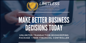 Unlimited Transaction Bookkeeping Package plus a FREE Financial Controller