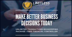Unlimited Transaction Bookkeeping Package + Free Financial Controller