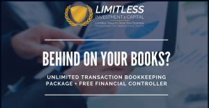 Behind on your Books? Unlimited Transaction Bookkeeping package + Access to a FREE financial controller
