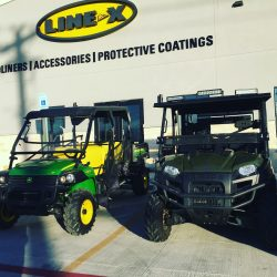 John Deere and Polaris vehicles at LINE-X of Austin