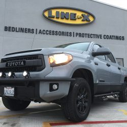 Toyota truck with LINE-X protective coatings at LINE-X of Austin
