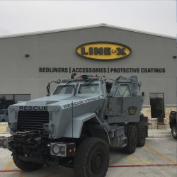 Rescue vehicle at LINE-X of Austin