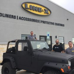 Jeep covered with LINE-X material at LINE-X of Austin