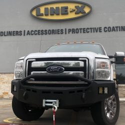 truck with winch at LINE-X of Austin