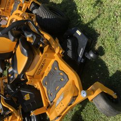 cub cadet riding lawn mower at LINE-X of Austin