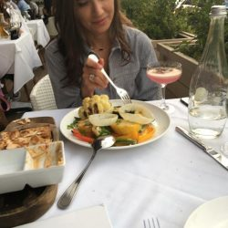 Mani Kukreja, Holistic Nutritionist, Enjoying a Healthy Meal