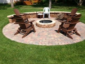 Firepit installed by landscaping company LL Gardens