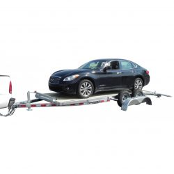 Looking for car haulers. This galvanized hauler can handle up to 7400 pounds.