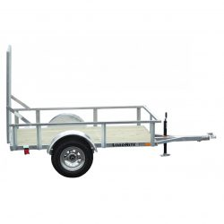 If you don't need to haul a lot, try this galvanized open trailer that hauls up to 2700 pounds.