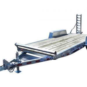 "EQ-1816000B2 | Price: $5,995 | Galvanized Super H.D. Tube Frame, 16,100 lb GVWR, Deck 82"" x 16' + 2' Beavertail, PT 2"" x 8"" Plank"