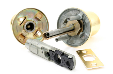 A lock that needs to be assembled by our residential locksmith in Chelmsford, MA