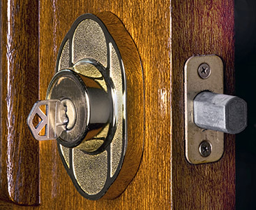 A lock that was installed by a residential locksmith in Merrimack, New Hampshire