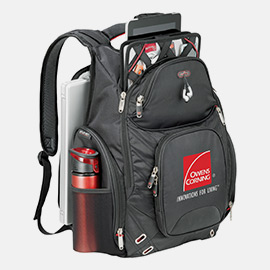 A customized backpack makes and excellent and unique promotional product.