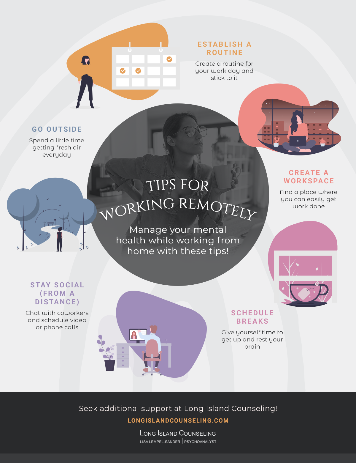 Infographic: Tips for Working Remotely