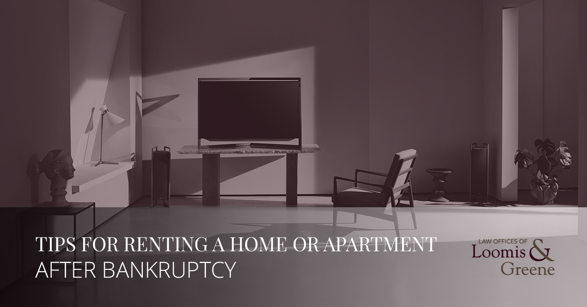 Tips for renting a home or apartment after bankruptcy