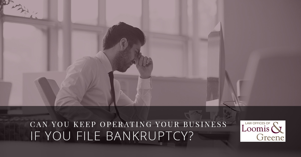 Can You Keep Operating Your Business If You File Bankruptcy