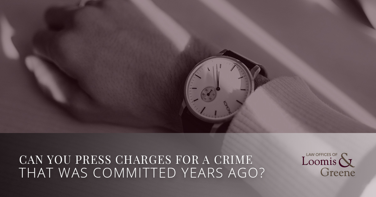 Can You Press Charges For A Crime That Was Committed Years Ago
