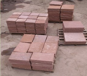 Pallets of our natural cut stone.