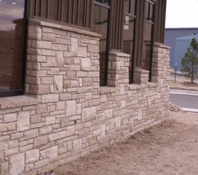 Ledgestone Foundation near Longmont Colorado.