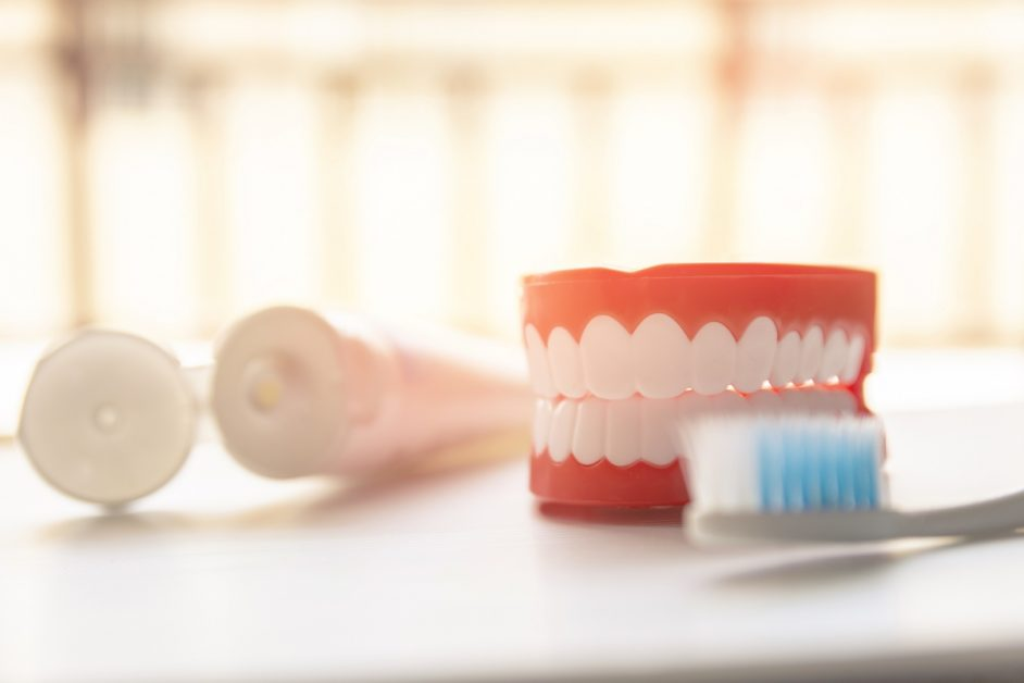 Toothpaste, Tooth Model, and Toothbrush
