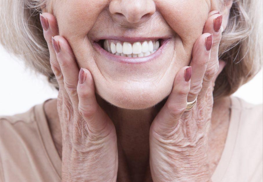 Senior Woman Smiling Closeup