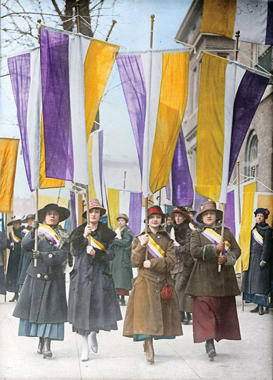 Historic image of the Women's Suffrage Movement