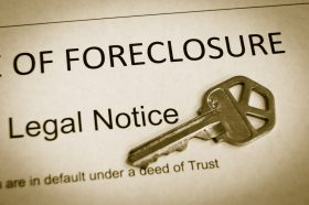 notice of foreclosure with house key