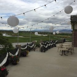 Outdoor Wedding Reception Lighting in Utah