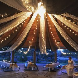 Wedding Lighting and Decorative Fabric from Lumen Lighting