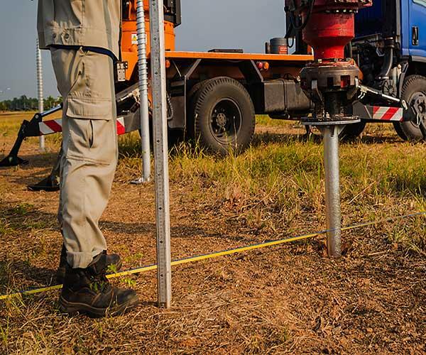 drilling for solar panel racking