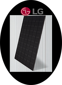 all black solar panel module by LG