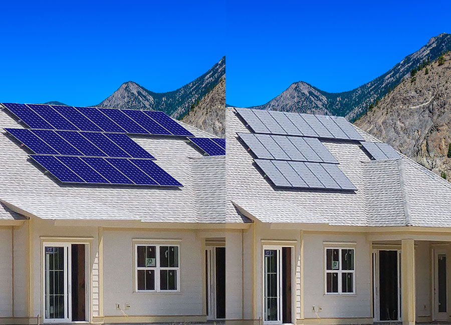 what solarskins on solar panels look like before and after