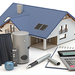 house solar panels and water heater