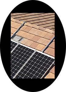 solar module racking that does not drill into your roof
