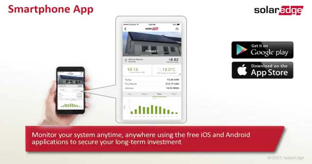 solaredge monitoring app for apple and android