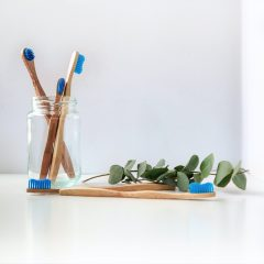 An image of a wooden toothbrush.