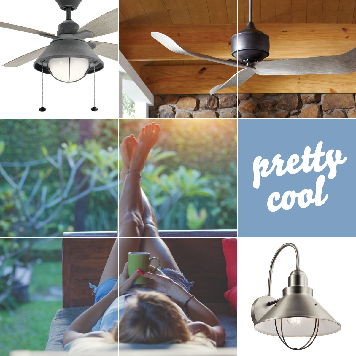 Ceiling fans help keep you cool in these hot months
