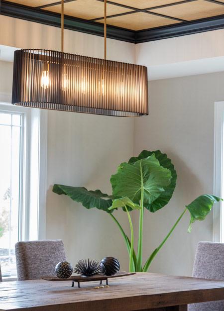 Beautiful lighting fixtures in eco-style