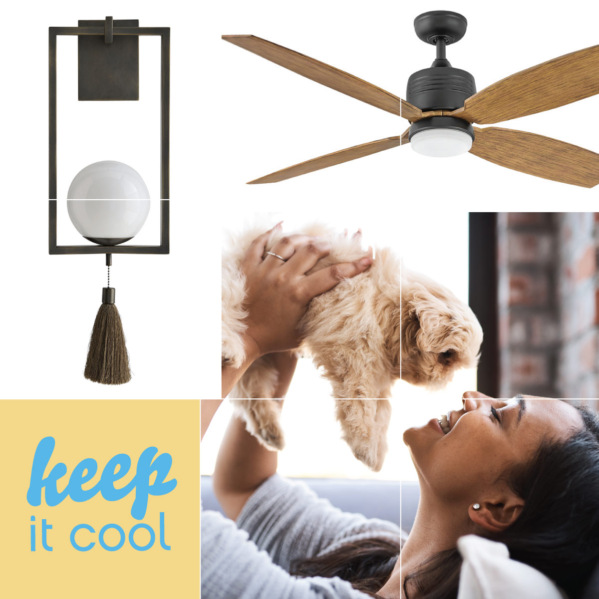 Ceiling Fans help keep you cool