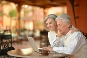 Senior Couple Browsing for Medicare Online