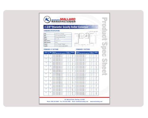 1-3-8-Gravity Conveyor Data-Sheet