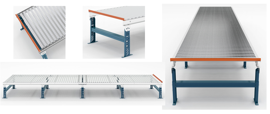 Gravity Conveyor Illustrations Mallard Manufacturing
