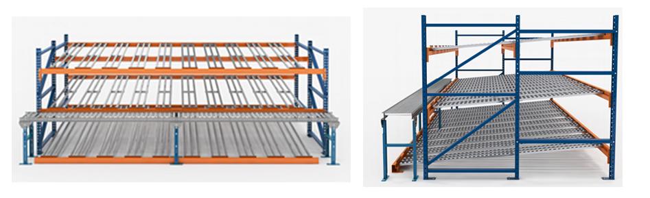 Rack-Trak Carton Flow Illustration Mallard Manufacturing