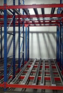 Push-back pallet flow lane Mallard Manufacturing