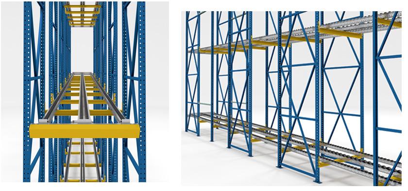 Push-back pallet rack Mallard Manufacturin