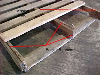 Damaged pallet